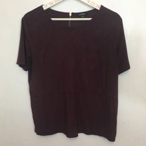 Burgundy Dress Top